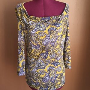 Boho chic paisley blouse small Michael kors